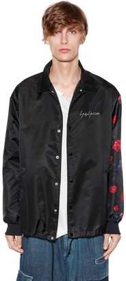 Yohji Yamamoto New Era Embroidery & Print Nylon Jacket