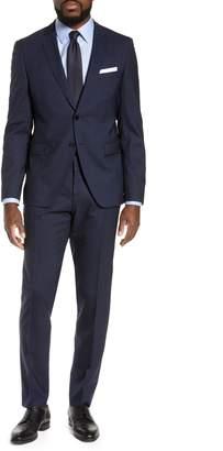 BOSS Reymond/Wenten Slim Fit Plaid Wool Suit
