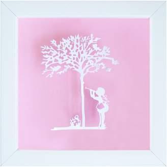 Almond Tree Designs Vintage Kids Sweet Music Wall Art, Almond Light Pink