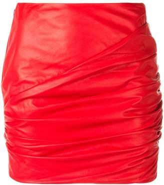 Versace ruched mini skirt
