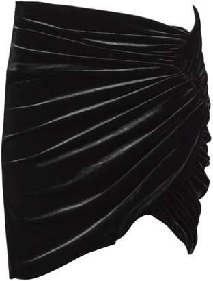 Alexandre Vauthier Black Velvet Mini Skirt.