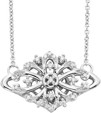 Vera Wang Simply Vera Sterling Silver 1/10-ct. T.W. Diamond Openwork Necklace