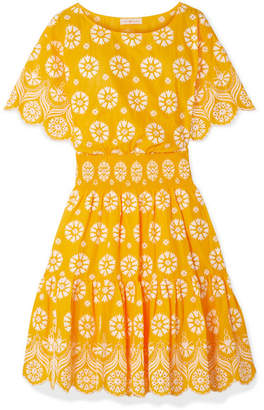 Tory Burch Broderie Anglaise Cotton Dress - Yellow