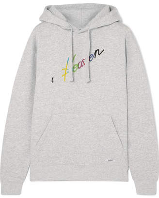 BLOUSE Heaven Embroidered Cotton-jersey Hooded Top