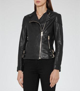 Shelby Leather Biker Jacket $745 thestylecure.com