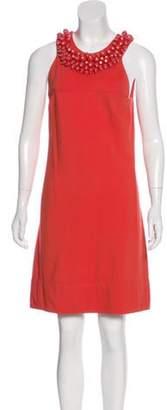 Diane von Furstenberg Ceecee Embellished Dress Orange Ceecee Embellished Dress