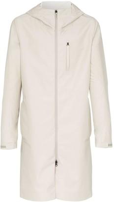 Descente Allterrain zip-up hooded rain coat