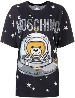 Moschino logo teddy print T-shirt