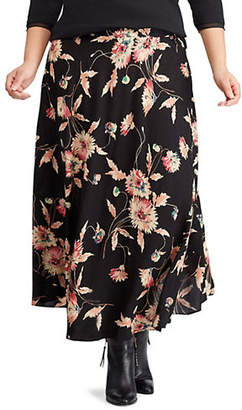 Chaps Plus Floral Straight Skirt