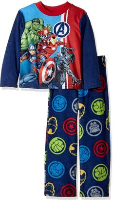 Marvel Big Boys' Avengers 2-Piece Fleece Pajama Set