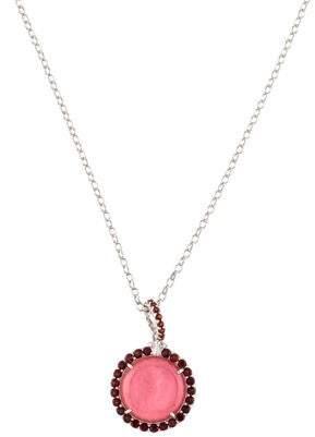 Tagliamonte Garnet-Accented Mother of Pearl Doublet & Venetian Intaglio Pendant Necklace