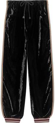 Bi-material jogging pant