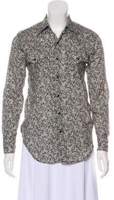Saint Laurent Floral Print Button-Up Top