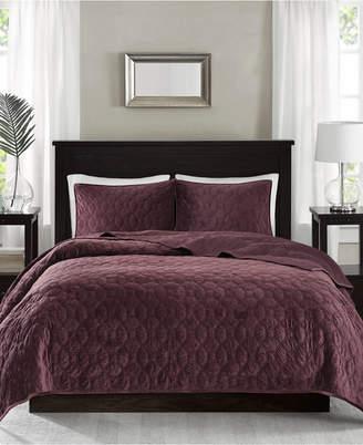 Jla Home Madison Park Harper Velvet Full/Queen 3-Pc. Coverlet Set Bedding