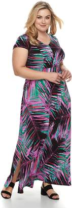 Dana Buchman Plus Size Shirred Maxi Dress