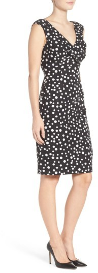 Women's Adrianna Papell Polka Dot Sheath Dress 3