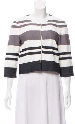 Narciso Rodriguez Collarless Cropped Jacket