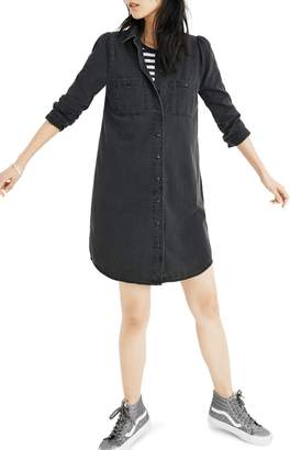 Madewell Denim Puff Sleeve Shirtdress