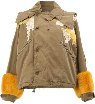 Gucci embellished cropped hooded jacket