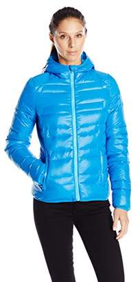Lark & Ro Women's Packable Down Hooded Jacket