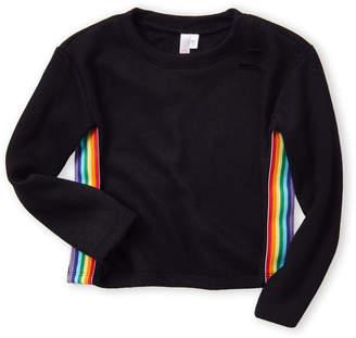 Malibu Sugar (Girls 4-6x) Rainbow Stripe Sweater