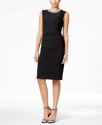 Connected Embellished Midi Dress $79 thestylecure.com
