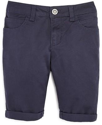 Armani Boys' 5 Pocket Stretch Twill Shorts - Big Kid $140 thestylecure.com
