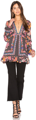 Free People Violet Hill Printed Tunic Top $108 thestylecure.com