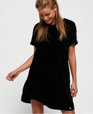 Superdry Leonie Velvet T-Shirt Dress