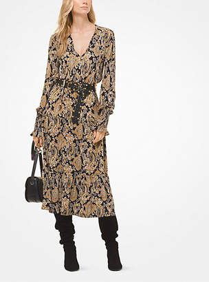 Michael Kors Paisley Matte-Jersey Dress