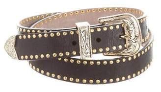 B-Low the Belt Leather Grommet Belt