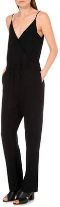 Rag & Bone Linen Faux-Wrap Jumpsuit