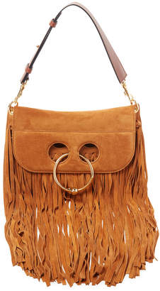 J.W.Anderson J. W. Anderson Pierce Small Fringe Suede Shoulder Bag