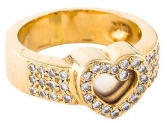 Ring 18K Floating Diamond Heart