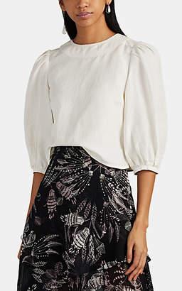 Laura Garcia Collection Women's Alma Silk-Linen Top - White