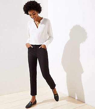 LOFT Dotted Riviera Pants in Marisa Fit