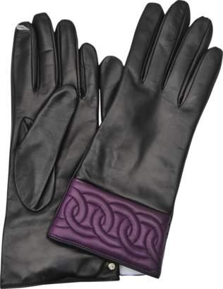 Diane von Furstenberg Quilted Sutra Chain gloves
