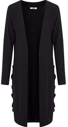 LnA Brushed River Cutout Stretch-Tencel Cardigan