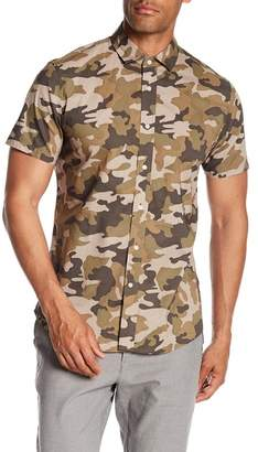 Slate & Stone Modern Fit Camo Button Short Sleeve Shirt