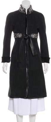 Valentino Embellished Suede Coat