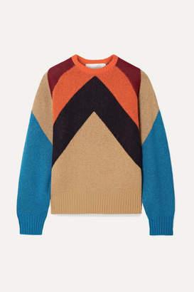 Victoria Victoria Beckham Victoria, Victoria Beckham - Intarsia Wool-blend Sweater - Camel