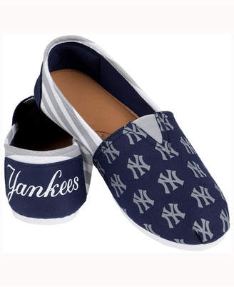 New York Yankees Forever Collectibles Women's Canvas Stripe Shoe