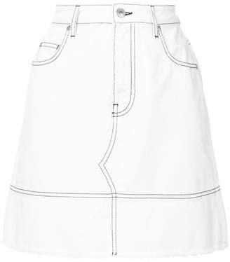 MSGM fitted denim skirt