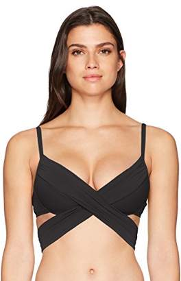 LaBlanca La Blanca Women's Island Goddess Wrap Underwire Push Up Bikini Swimsuit Top