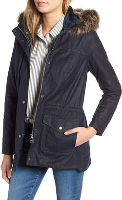 Barbour Southwold Jacket with Faux Fur Lining & Trim