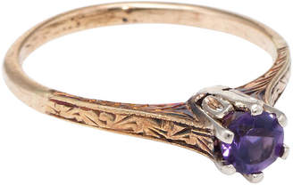 One Kings Lane Vintage 14k Art Deco Amethyst Stacking Ring - Precious & Rare Pieces