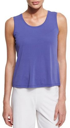 Eileen Fisher Scoop-Neck Silk Tank, Periwinkle, Petite $98 thestylecure.com