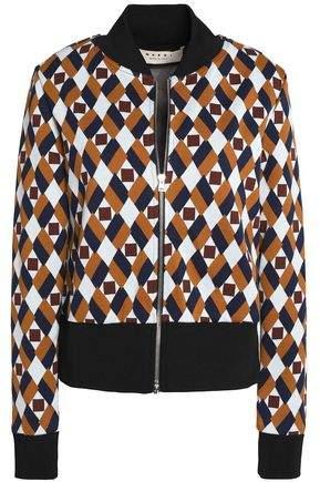 Cotton-Blend Jacquard Bomber Jacket