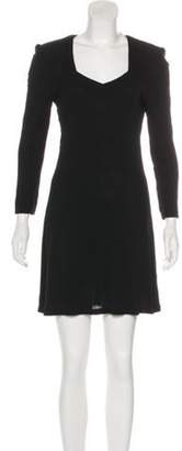 Sonia Rykiel Long Sleeve Mini Dress Black Long Sleeve Mini Dress