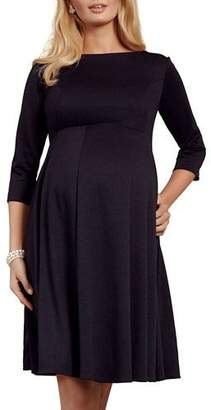 Tiffany & Co. Rose Maternity Sienna 3/4-Sleeve Ponte Roma Jersey Dress